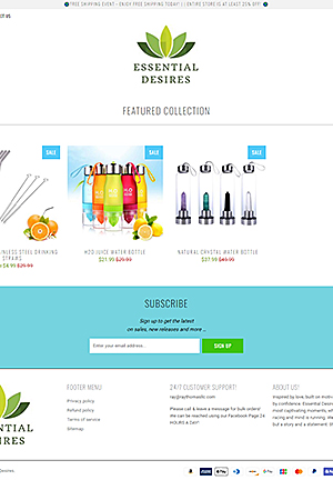 E-commerce for kitchenware and bottles